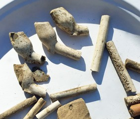 Eyreville Dutch pipe bowls.jpg by Mike Madden, US Forest Service Archaeologist